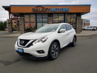 Used 2017 Nissan Murano PLATINUM - AWD, Leather Interior, Navigation for sale in Courtenay, BC