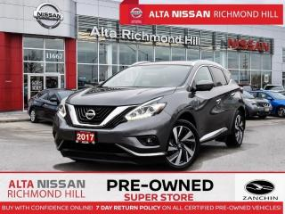 Used 2017 Nissan Murano Platinum   Pano   Rear Heated   Bose   LED   Alloy for sale in Richmond Hill, ON