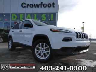 Used 2018 Jeep Cherokee SPORT V6 WITH COLD WEATHER GROUP 4X4 for sale in Calgary, AB