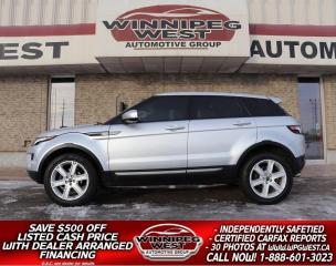Used 2012 Land Rover Evoque PURE PREMIUM 2.0T AWD, FULLY LOADED, LOCAL, CLEAN! for sale in Headingley, MB