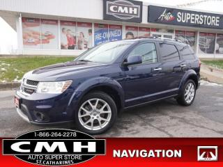 Used 2018 Dodge Journey GT  NAV CAM LEATH P/SEATS HTD-S/W HTD-SEATS for sale in St. Catharines, ON
