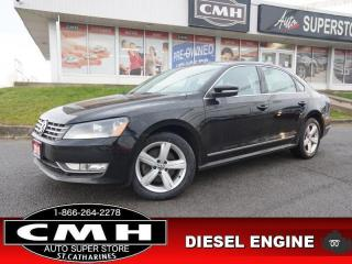 Used 2015 Volkswagen Passat 2.0 TDI Comfortline  CAM ROOF LEATH 17-AL for sale in St. Catharines, ON