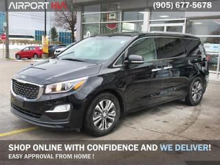 Used 2019 Kia Sedona SX Demo/  WE ARE OPEN/ 8 Seater/Power side doors and lift gate/Blind spot and rear cross traffic alert/Power Sunroof/UVO for sale in Mississauga, ON