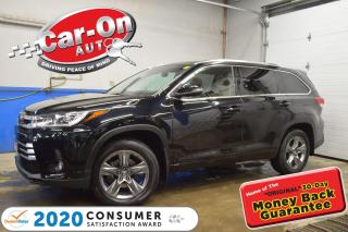 Used 2019 Toyota Highlander LIMITED AWD | STUNNING MIDNIGHT BLACK ON BROWN PER for sale in Ottawa, ON