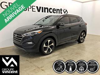 Used 2016 Hyundai Tucson LIMITED GPS CUIR TOIT PANO. ** GARANTIE 10 ANS ** VUS à quatre roues motrices très bien équipé! for sale in Shawinigan, QC