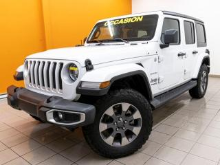 Used 2019 Jeep Wrangler SAHARA 4X4 SIÈGES / VOLANT CHAUF NAV CUIR *BAS KM* for sale in Mirabel, QC