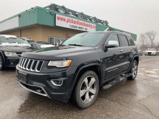 Used 2015 Jeep Grand Cherokee Overland DIESEL! | 1 OWNER! | ACCIDENT FREE! | ONTARIO VEHICLE! | 4x4! for sale in Bolton, ON
