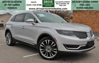 Used 2016 Lincoln MKX Reserve AWD Heated Leather Moon Roof Bluetooth Backup Cam Nav for sale in Belle River, ON