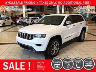 Used 2020 Jeep Grand Cherokee Limited - Nav / Sunroof / Leather / No Dealer Fees / No Accident for sale in Richmond, BC