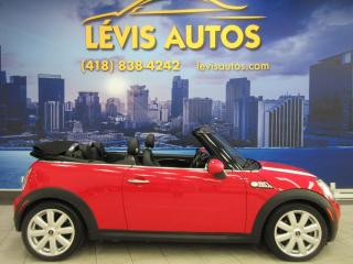 Used 2009 MINI Cooper Convertible S CONVERTIBLE AUTOMATIQUE 106800 KM CUIR for sale in Lévis, QC