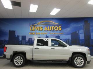 Used 2018 Chevrolet Silverado 1500 4X4 CUSTOM CREWCAB 68800 KM TRES PROPRE for sale in Lévis, QC
