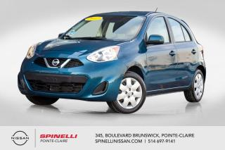 Used 2017 Nissan Micra SV BLUETOOTH / GROUPE ÉLÉCTRIQUE / A/C / CRUISE CONTROL for sale in Montréal, QC