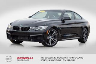 Used 2015 BMW 4 Series 435i xDrive ENSEMBLE SPORT M. PACKAGE / xDrive / CUIR ROUGE / GPS for sale in Montréal, QC