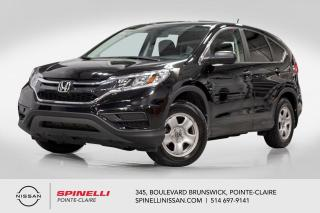 Used 2016 Honda CR-V LX FWD CAMERA DE RECUL / BLUETOOTH / SIEGE CHAUFFANTS for sale in Montréal, QC