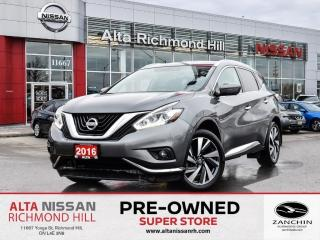 Used 2016 Nissan Murano Platinum   360 CAM   Rear Heated   Bose   Leather for sale in Richmond Hill, ON