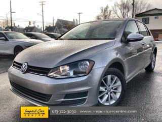 Used 2017 Volkswagen Golf 1.8 TSI Trendline ALLOYS  CLOTH  HTD SEATS  BACKUP for sale in Ottawa, ON