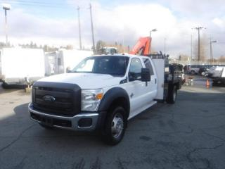 Used 2013 Ford F-550 Flat Deck 6.5 foot with Crane Crew Cab Dually 4WD Diesel for sale in Burnaby, BC
