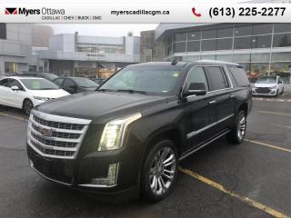 Used 2018 Cadillac Escalade ESV Premium Luxury  ESCALADE ESV PREMIUM, POWER STEPS, NAV, DVD, RADIANT PACKAGE for sale in Ottawa, ON