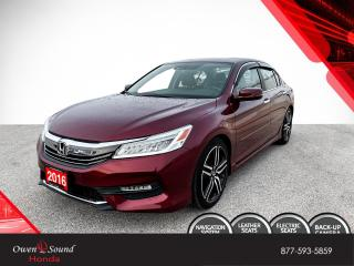Used 2016 Honda Accord Sedan Touring for sale in Owen Sound, ON