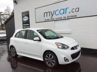 Used 2016 Nissan Micra SR ALLOYS, BACKUP CAM, POWERGROUP!! LOW MILEAGE!! for sale in Richmond, ON