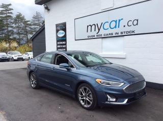Used 2019 Ford Fusion Hybrid Titanium LEATHER, SUNROOF, HEATED SEATS, BEAUTY!! for sale in North Bay, ON
