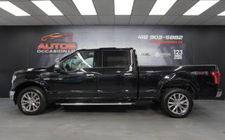 Used 2016 Ford F-150 LARIAT V8 5.0L SUPER CREW CUIR TOIT PANO GPS FULL for sale in Lévis, QC