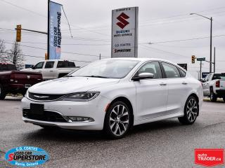 Used 2015 Chrysler 200 C AWD ~Nav ~Camera ~Leather ~Panoramic Moonroof for sale in Barrie, ON