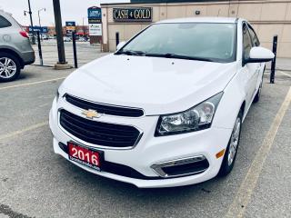 Used 2016 Chevrolet Cruze LT I BACK UP CAMERA I $9499 for sale in Brampton, ON