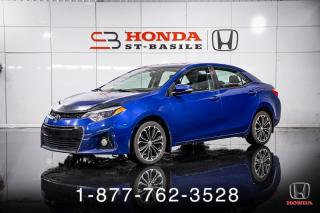 Used 2016 Toyota Corolla S + PREMIUM + CUIR + TOIT + MAGS + WOW! for sale in St-Basile-le-Grand, QC