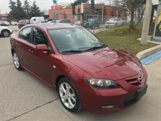 Used 2008 Mazda MAZDA3 a/roof,alluys,auto,183k,safety+3years warranty inc for sale in Toronto, ON