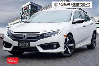 Used 2018 Honda Civic Sedan Touring CVT No Accident| Top Of The Line| Ap for sale in Thornhill, ON