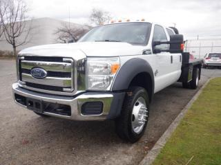 Used 2015 Ford F-550 Flat Deck 13 foot Crew Cab Dually 4WD Diesel for sale in Burnaby, BC