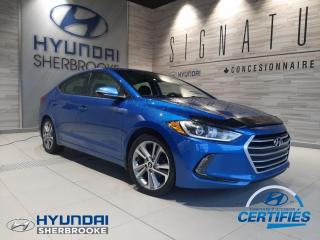 Used 2017 Hyundai Elantra GLS CAMERA TOIT ANGLE-MORT VOLANT CHAUF for sale in Sherbrooke, QC