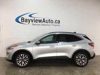 Used 2020 Ford Escape Titanium Hybrid - AWD! HTD LEATHER! NAV! SYNC! 22,000KMS! + MORE! for sale in Belleville, ON