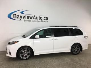 Used 2019 Toyota Sienna SE 8-Passenger - HTD LEATHER! NAV! ENTERTAINMENT SYSTEM! SUNROOF! + MORE for sale in Belleville, ON