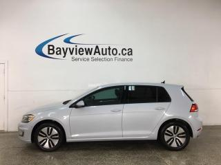 Used 2018 Volkswagen Golf e-Golf Comfortline - 29,000KMS! HTD LEATHER! NAV! AUTO PARK! for sale in Belleville, ON