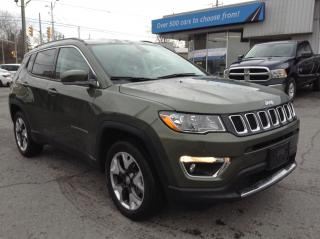 Used 2020 Jeep Compass Limited LEATHER, HEATED SEATS/WHEEL, NAV, 2TONE LEATHER!! for sale in Kingston, ON