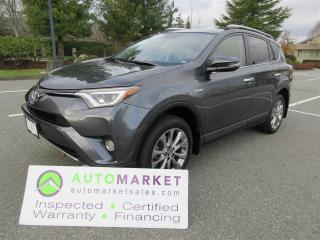 Used 2016 Toyota RAV4 Hybrid LIMITED, AWD, INSP, BCAA MBSHP, WARRANTY, FINANCING for sale in Surrey, BC