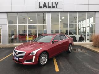 Used 2018 Cadillac CTS Rem| Start| Rev Cam| Sunroof| Heated for sale in Tilbury, ON