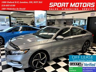 Used 2018 Honda Accord Sport+ApplePlay+Lane Keep+Camera+ACCIDENT FREE for sale in London, ON