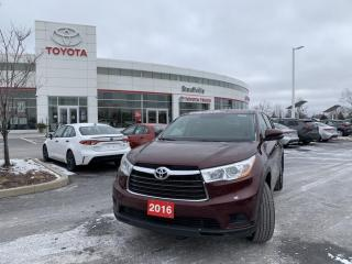 Used 2016 Toyota Highlander AWD LE V6 - 4 NEW TIRES - NEW BRAKES - WINTERS ON RIMS for sale in Stouffville, ON