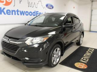 Used 2017 Honda HR-V EX-L AWD with a sunroof, heated power leather seats and a back up cam for sale in Edmonton, AB