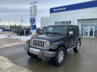 Used 2014 Jeep Wrangler SAHARA/NAV/AUTO/HARDTOP/HEATEDSEATS for sale in Edmonton, AB