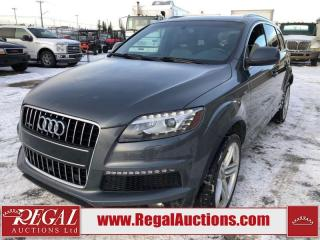 Used 2013 Audi Q7 SPORT 4D UTILITY AWD 3.0L for sale in Calgary, AB