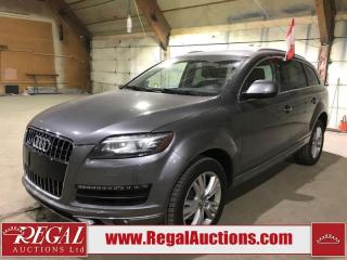 Used 2012 Audi Q7  4D UTILITY for sale in Calgary, AB
