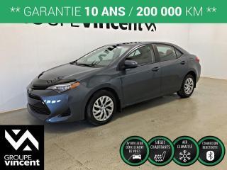 Used 2017 Toyota Corolla LE ** GARANTIE 10 ANS ** Occasion à saisir, bas kilométrage! for sale in Shawinigan, QC