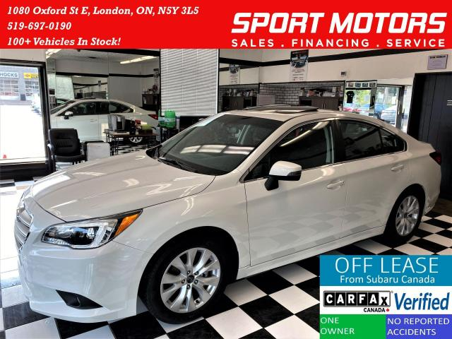 2017 Subaru Legacy 2.5i w/Touring AWD+Roof+Blind Spot+Accident Free