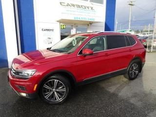 Used 2018 Volkswagen Tiguan Highline 4WD 7 Pass, Nav, Pano Roof, Driver Assist for sale in Langley, BC