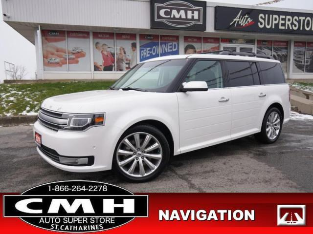 2016 Ford Flex Limited  ADAP-CC NAV CAM 4-PANEL-ROOF HTD-S/W CLD-SEATS P/GATE