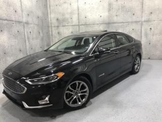 Used 2019 Ford Fusion Hybrid Titanium HYBRID CUIR TOIT OUVRANT CARPLAY SIEGES VENTILLÉ for sale in St-Nicolas, QC